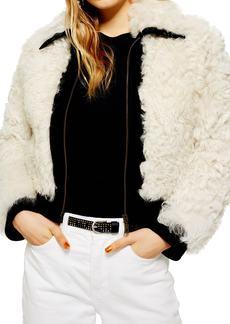 Topshop Genuine Shearling Jacket