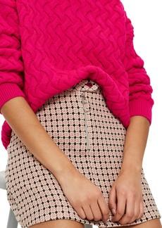 Topshop Geo Jacquard Miniskirt