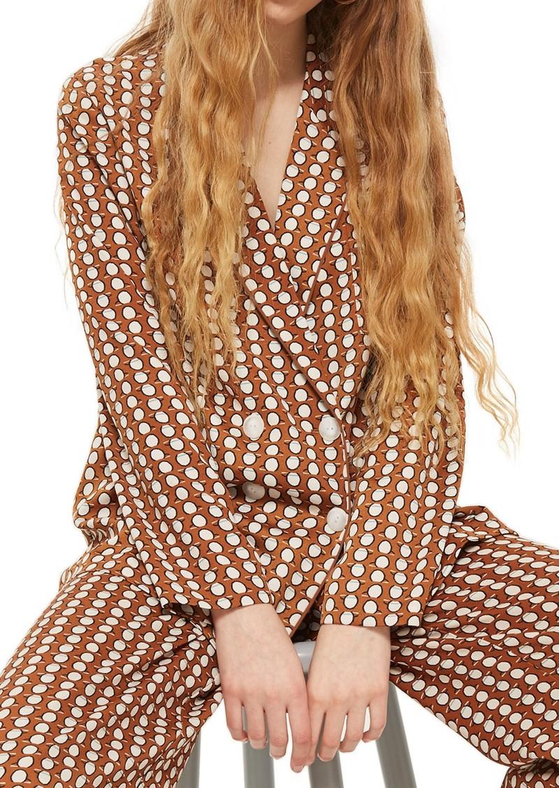 Topshop Geo Print Pajama Jacket