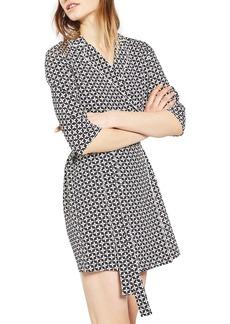 Topshop Geo Tile Wrap Shirtdress (Regular & Petite)