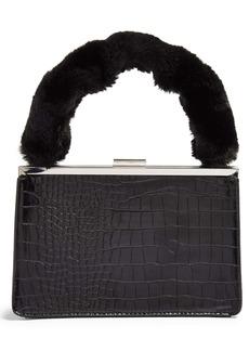 Topshop Georgia Faux Fur Handle Grab Bag