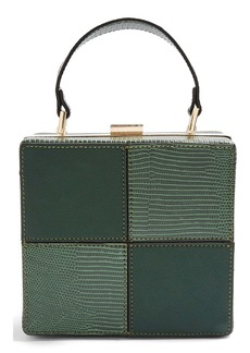 Topshop Gia Boxy Faux Leather Bag