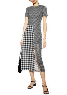 Topshop Gingham Midi Dress
