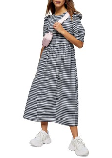 Topshop Gingham Midi Dress (Petite)