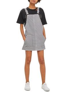 Topshop Gingham Pinafore Dress