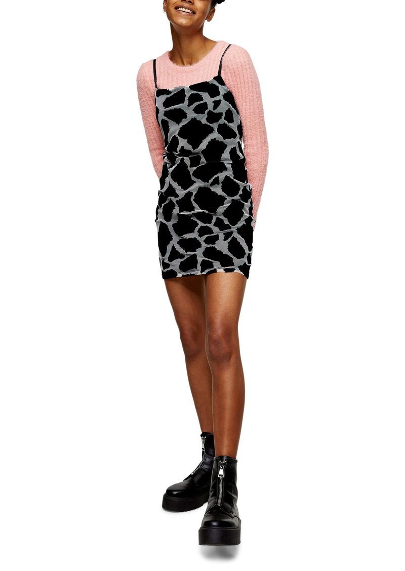 Topshop Giraffe Mesh Minidress