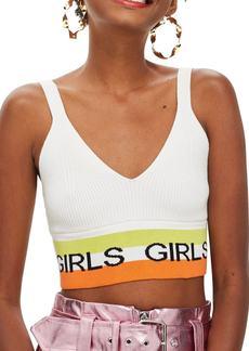 Topshop Girls Slogan Bralette