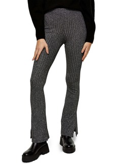 Topshop Glitter Rib Flare Trousers