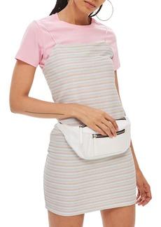 Topshop Glitter Stripe Minidress