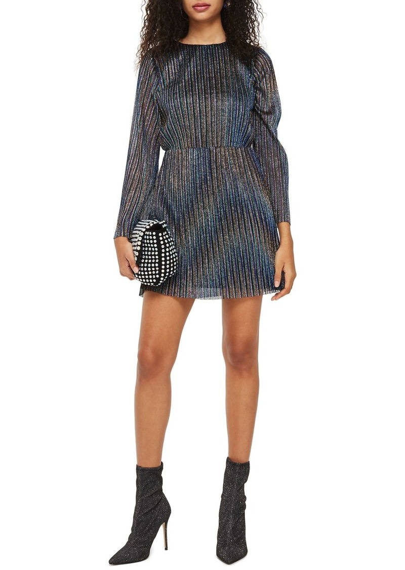 24c5b81a89 Topshop Topshop Glitter Stripe Pleated Dress | Dresses