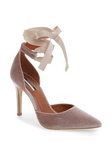 Topshop Graceful Ankle Tie d'Orsay Pump (Women)