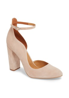 Topshop Gracie Block Court Asymmetrical Pump (Women)