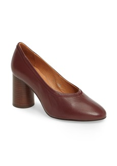 Topshop Graphic Hi Vamp Round Heel Pump (Women)