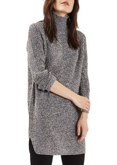Topshop Grunge Funnel Neck Sweater Dress