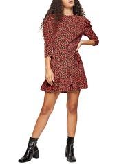Topshop Grunge Rose Minidress