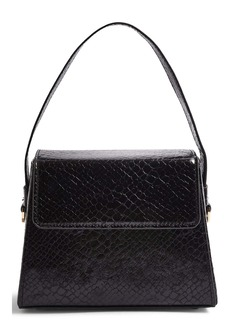 Topshop Guru Boxy Faux Leather Handbag