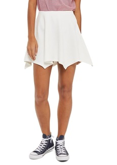 Topshop Handkerchief Hem Jersey Flippy Skirt