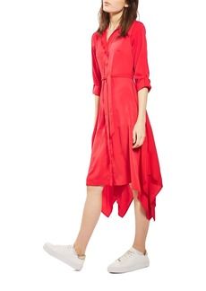 Topshop Handkerchief Hem Midi Shirtdress