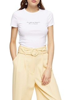 Topshop Happens for a Reason Graphic Tee