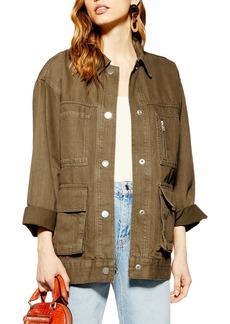 Topshop Harry Oversize Shirt Jacket