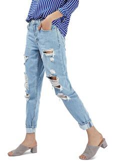 Topshop 'Hayden' Super Ripped Boyfriend Jeans