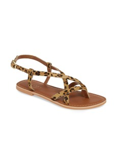 Topshop Hazy Genuine Calf Hair Sandal (Women)