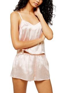 Topshop Heart Satin Pajamas