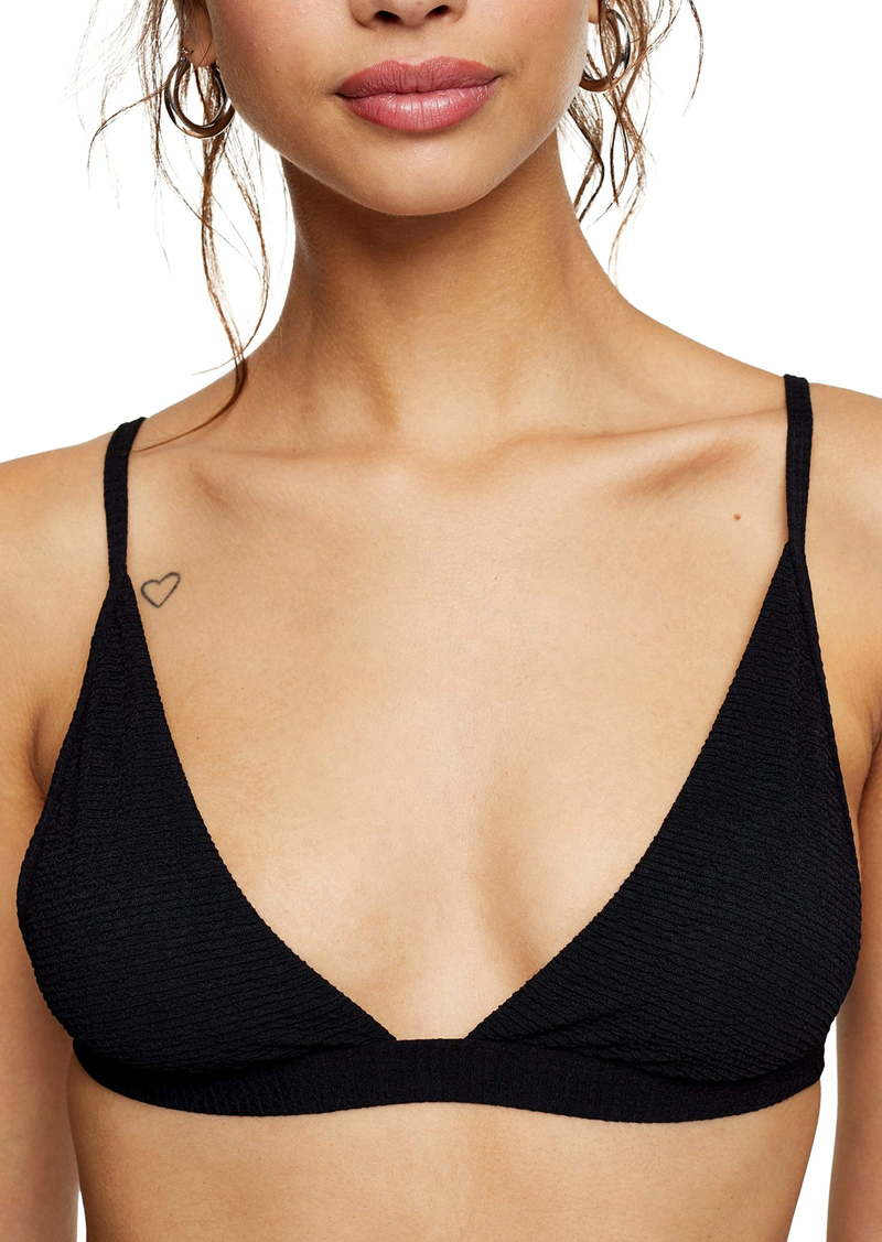 Topshop High Apex Crinkle Triangle Bikini Top