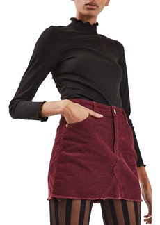 Topshop High Rise Corduroy Miniskirt