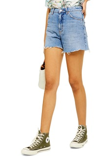 Topshop High Waist Cutoff Denim Shorts