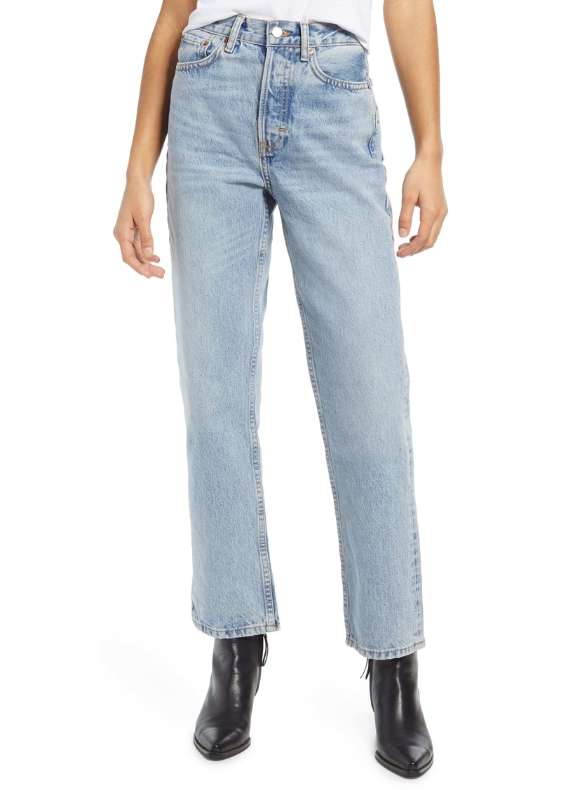 Topshop High Waist Dad Jeans (Bleach)