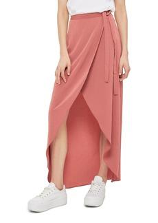 Topshop High/Low Wrap Maxi Skirt