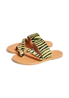 Topshop Honey Genuine Calf Hair Slide Sandal (Women)