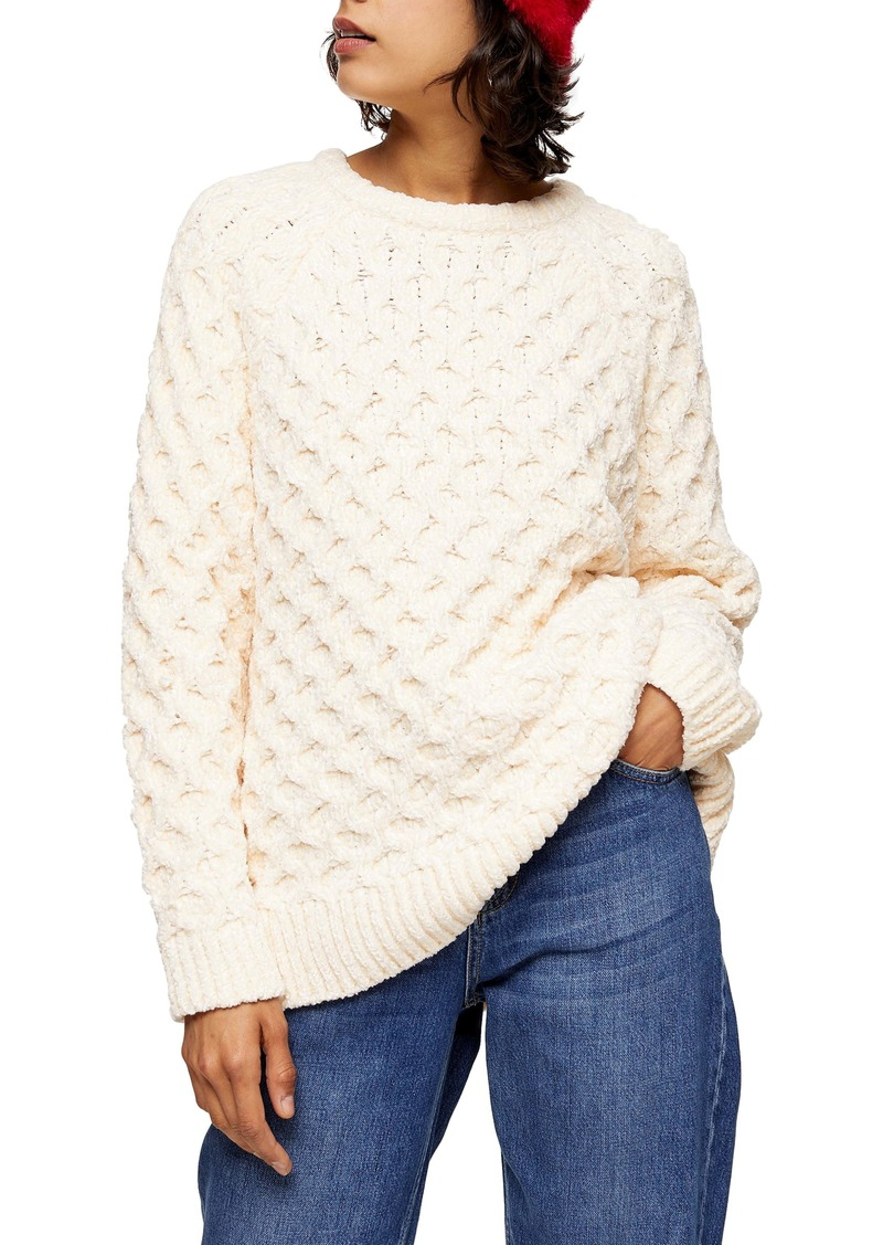 Topshop Honeycomb Chenille Sweater