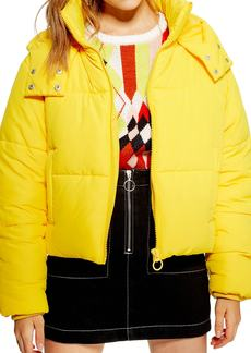 Topshop Hooded Puffer Jacket