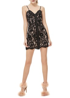 Topshop Hook and Eye Lace Bustier Dress