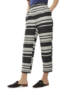 Topshop Horizontal Stripe Peg Trousers