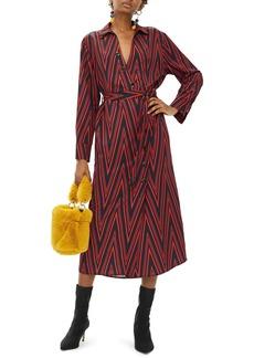 Topshop Horn Button Print Midi Dress