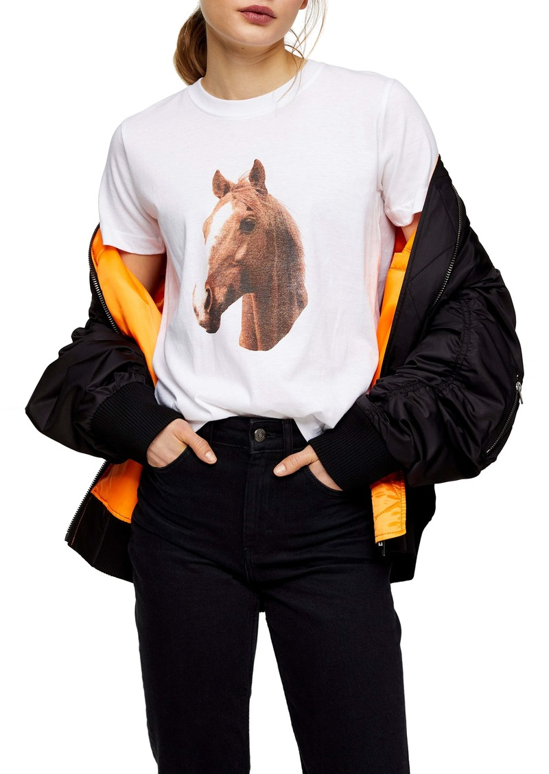 Topshop Horse Graphic Tee