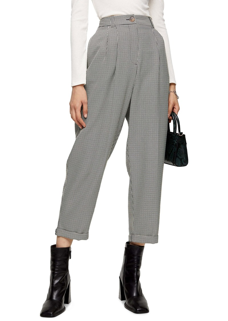 Topshop Houndstooth Crop Trousers