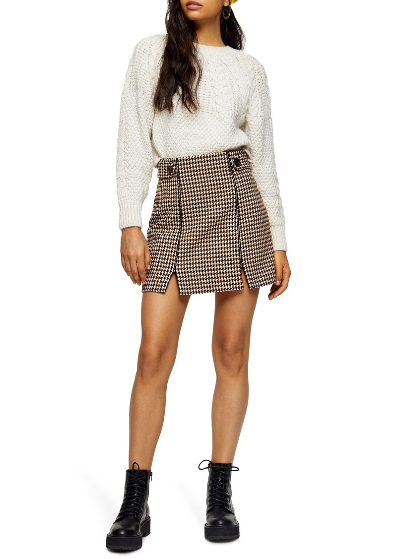Topshop Houndstooth Miniskirt