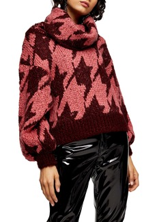 Topshop Houndstooth Sweater