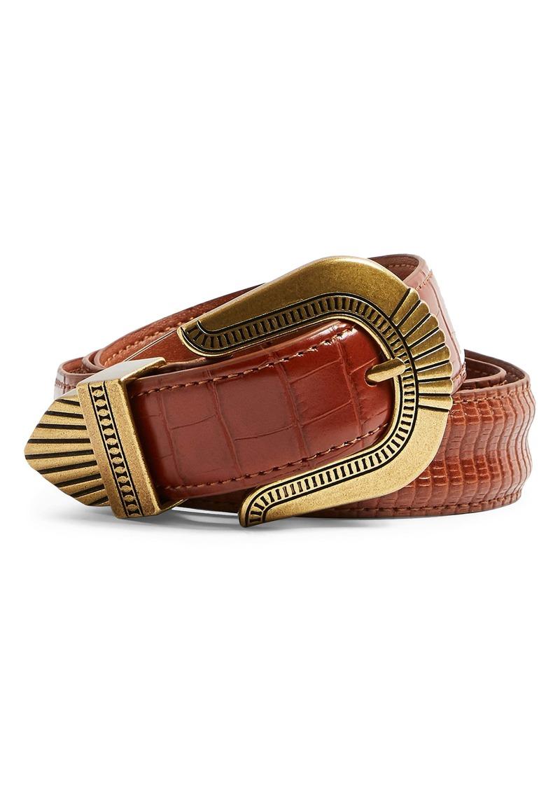 Topshop Houston Western Faux Leather Belt