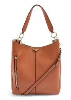 Topshop Hugo Zip Faux Leather Hobo Bag