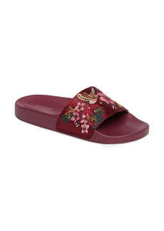 Topshop Hummingbird Embroidered Slide Sandals (Women)