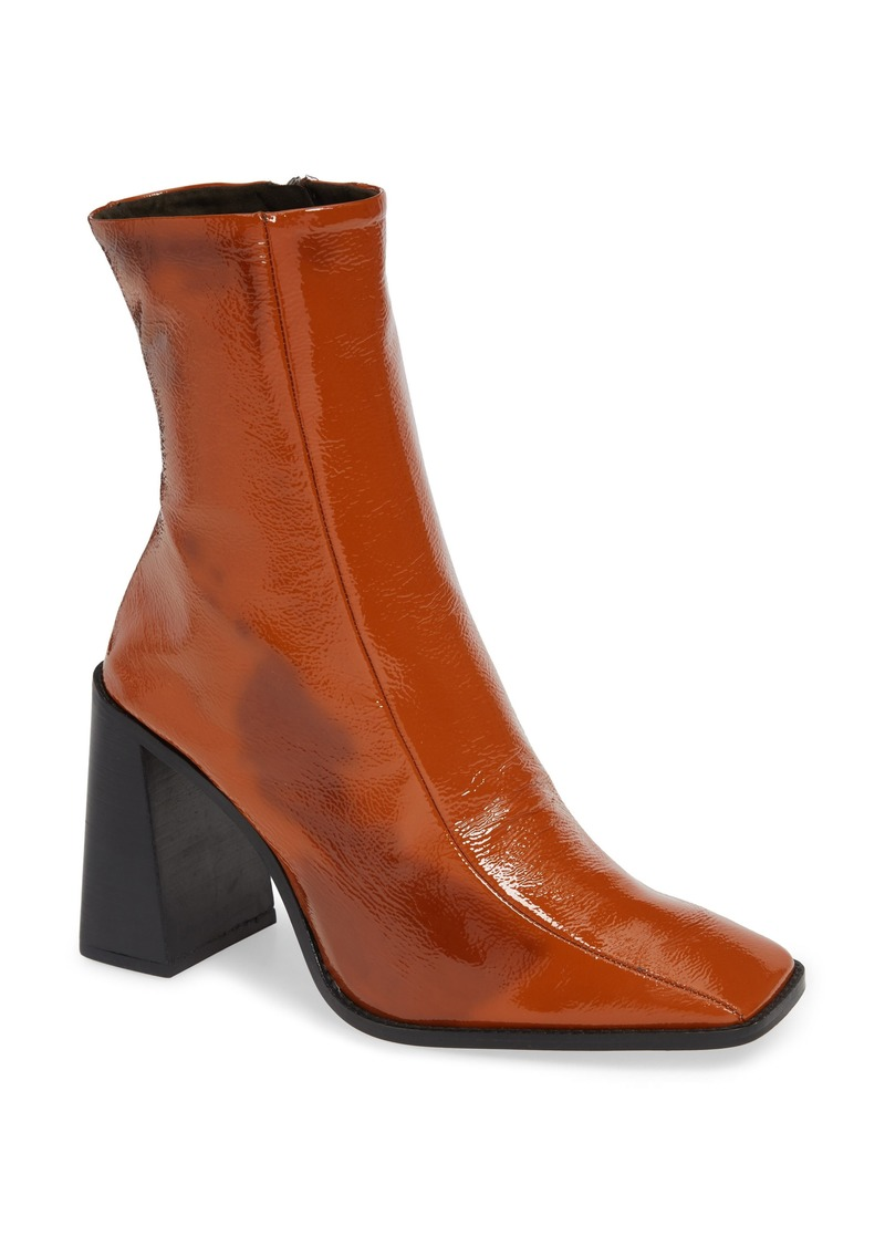 Topshop Hurricane Leather Bootie (Women)
