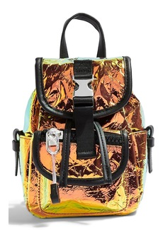 Topshop Ibiza Holographic Crinkle Backpack