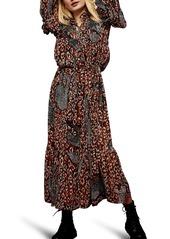 Topshop Idol Leopard Maxi Dress