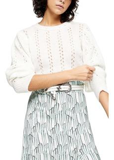Topshop IDOL Pointelle Crop Sweater