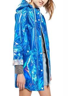 Topshop Iridescent Rain Jacket